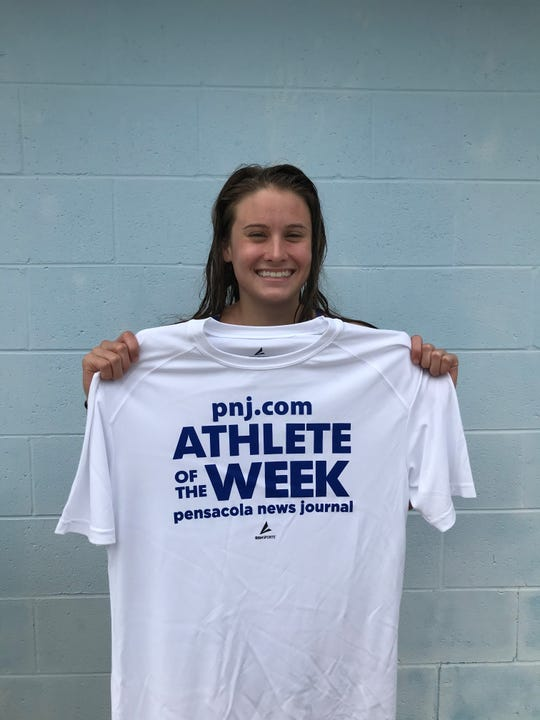 Landry Hadder has had a successful sophomore year with Pace swimming. She's set two school records this year and won the PNJ.com Athlete of the Week poll Sept. 28.