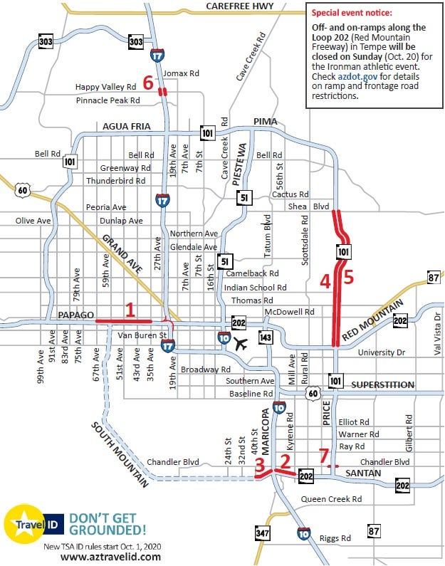 Weekend traffic: Closure planned on portion of westbound I-10 in the West Valley