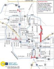 Phoenix-area weekend traffic: Closure planned on WB I-10 in ... on interstate 8 map, interstate 80 map, interstate 81 map, interstate 20 map, i-10 map, interstate 421 map, interstate 27 map, interstate 75 map, highway 82 map, texas map, interstate 422 map, interstate 70 map, i-70 colorado road map, interstate 25 map, interstate 5 map, interstate 4 map, lincoln way map, interstate i-10,