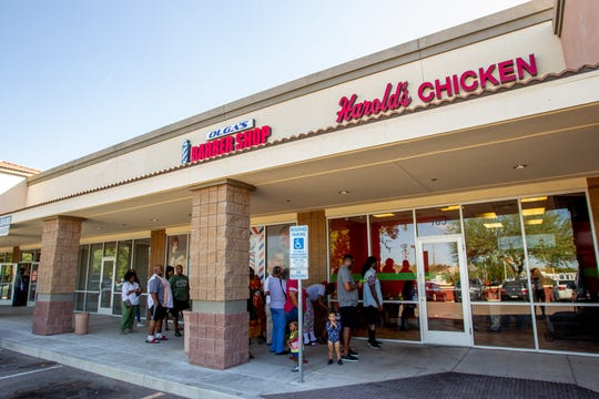 Harold's Chicken opened its first Phoenix location earlier this month. Oct. 17, 2019.