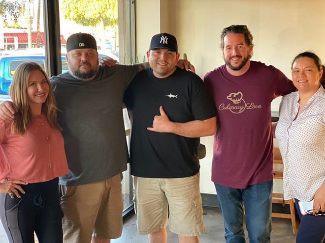 Bryon Freeze (second from right) started the organization Culinary Love to support mental health services in the food industry.