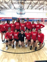 Oct. 4, 2019; Central girls volleyball team after winning the Chandler Prep Volleyball Invitational.