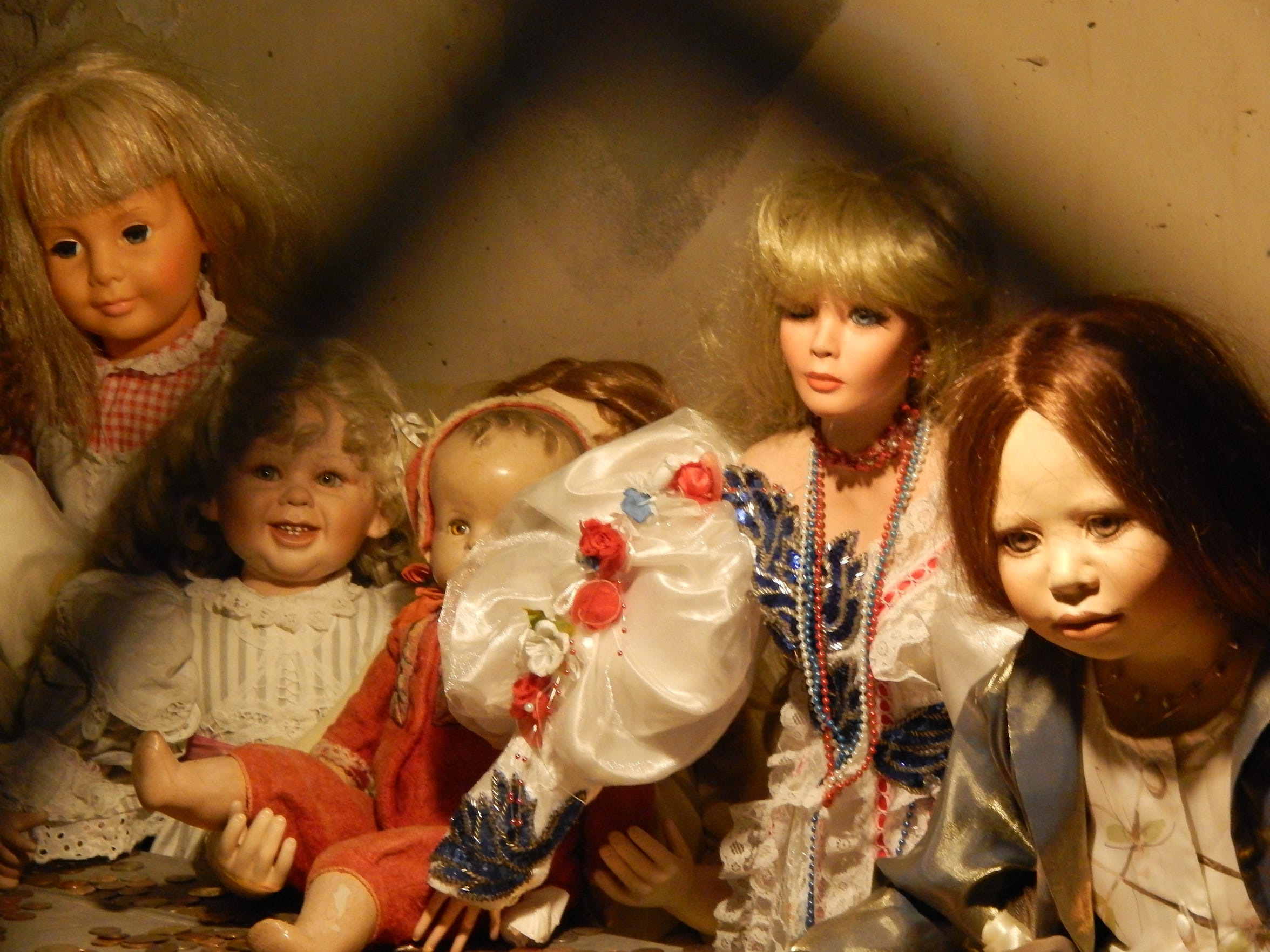 The dolls at Hanny's are part of an art installation, but rumors surround them.