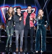 """Lucero, Miguel Ángel Fox Carlos Rivera y Olivia Peralta, presentaron """"La Voz Kids""""."""