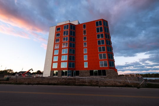 The first residents are expected to move into the Bluewater View condos by the end of the year, with construction finishing up in the spring.