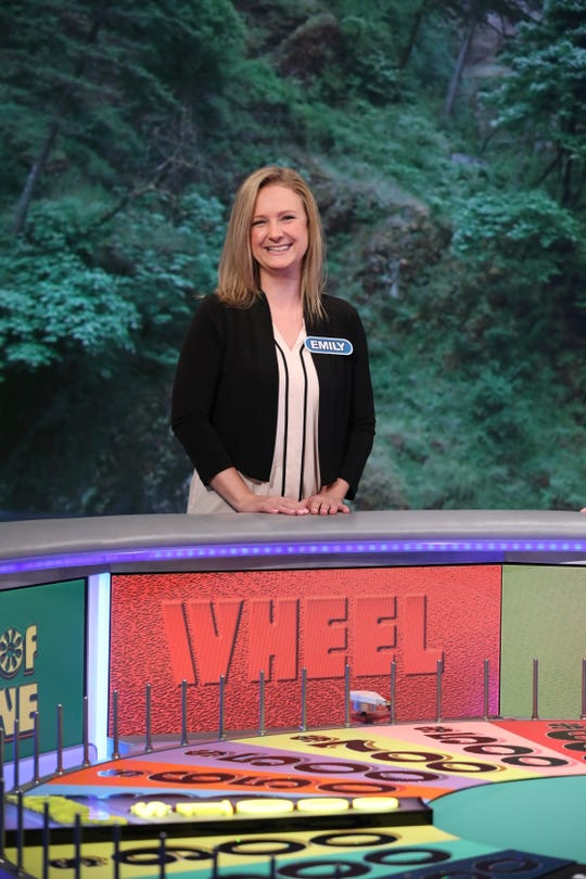 """Emily Leachof Ira Township was on TV on """"Wheel of Fortune"""" on Oct. 17, 2019."""