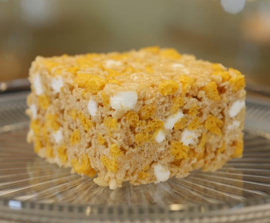 The GIANT Rice Crispy Treat from The Beacon Daily on October 17, 2019.