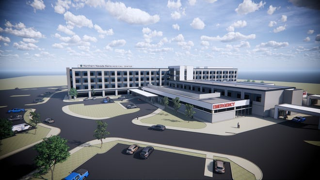 A rendering of the new Northern Nevada Sierra Medical Center planned for south Reno.