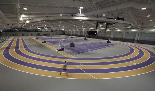 Inside the newly opened Golisano Training Center at Nazareth College in Pittsford Thursday, Oct. 17, 2019.  The facility is 108,000 square feet.