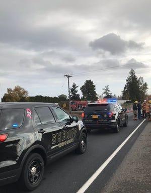 Deputies respond to a crash on Silverton Road NE.