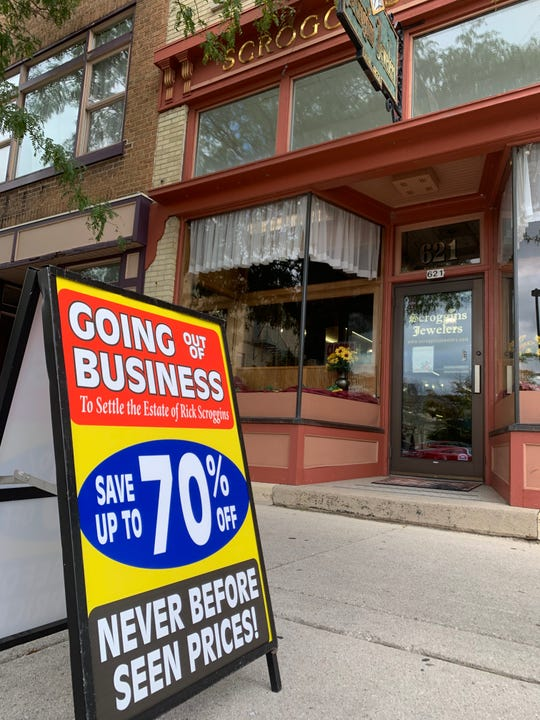 Scroggins Jewelers in downtown Sheboygan is going out of business.