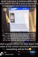 Police released a copy of a debunked social media post that prompted a lock out at Stevens Point public schools Friday. The post originated in Wilmington, North Carolina.