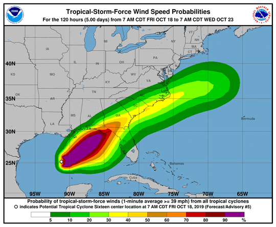The weather system in the Gulf of Mexico forecast to bedevil North Florida this weekend has formed into Tropical Storm Nestor (10/18)