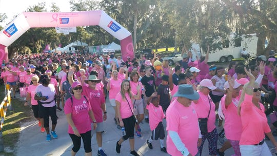 More than 3,500 Indian River County residents came together at Vero Beach's Riverside Park for the American Cancer Society's Making Strides Against Breast Cancer walk on Oct. 12, 2019.