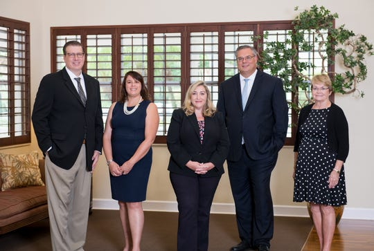 The Treasure Coast Hospice Foundation's Thanks for Giving celebration is held each November. Representing the foundation, from left, Glenn Graves, vice chairman; Melinda Jacobs, trustee; Jackie Kendrick, CEO of Treasure Coast Hospice; Murray Fournie, vice president of philanthropy; and Eileen Emery, trustee.