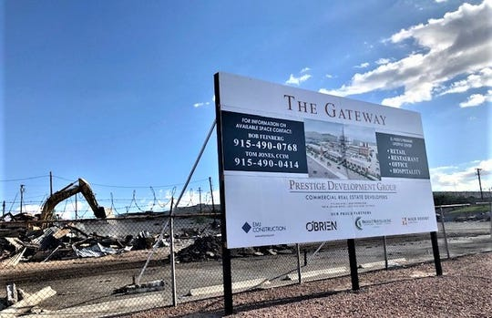 The Gateway mixed-use, lifestyle center is planned for 20 acres of land along Interstate 10 and near Airway Boulevard in East Central El Paso.