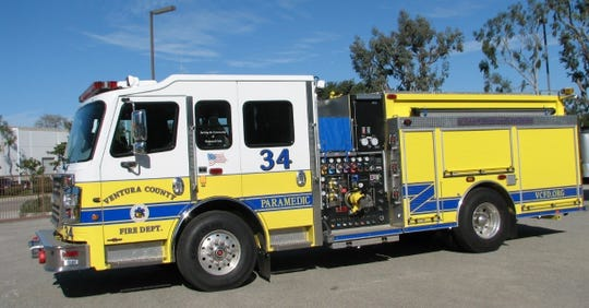 A Ventura County Fire Department medic engine.