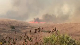 Get a look at the Real Fire, which has charred hundreds of acres between Goleta and Gaviota.