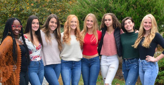 Delsea Regional High School announced the following students are candidates for Homecoming Queen: (from left) Nadia Parker, Julia Enman, Jillian Zimmer, Brianna Russo, Ryleigh Huntsinger, Sierra Harden, Sarah Nicell and Erin Collins.