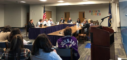 "The Katonah-Lewisboro school board on Thursday discussed replacing John Jay High School's ""Indians"" nickname."