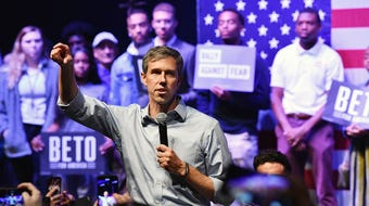 Democratic presidential candidate Beto O'Rourke's Rally Against Fear in Grand Prairie Thursday was a counter rally to Donald Trump's event in Dallas.