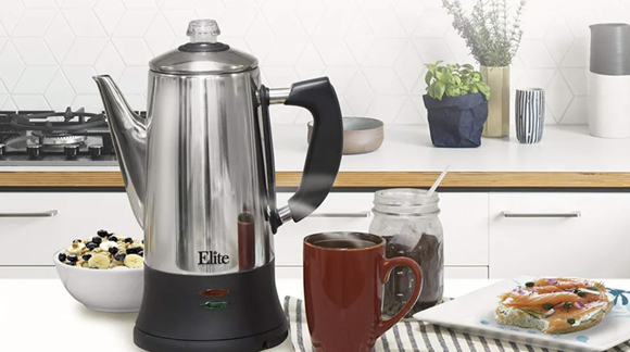 The best electric coffee percolators of 2019: Maxi-Matic Elite Platinum EC-120 12-cup Percolator