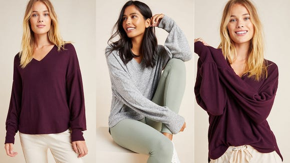 Stay warm and stay trendy with this oversized sweater.