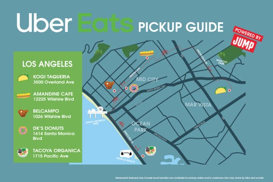 Uber Eats launched a new pickup feature nationwide. But in six cities, the on demand service made guides for using its Jump scooters and bikes.