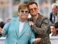 Taron Egerton and Elton John sang at the 'Rocketman: Live in Concert' event Thursday