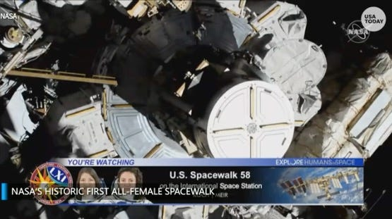 Breaking news: Two female astronauts are making history. How to watch NASA's first all-female spacewalk