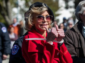 Jane Fonda arrested again at climate change protest; Sam Waterston also arrested
