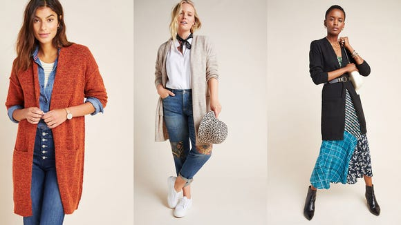 This cardigan was made for layering.