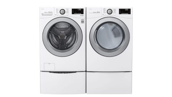 Best washer and dryer sets: LG WM3500CW washer & DLE3500W dryer