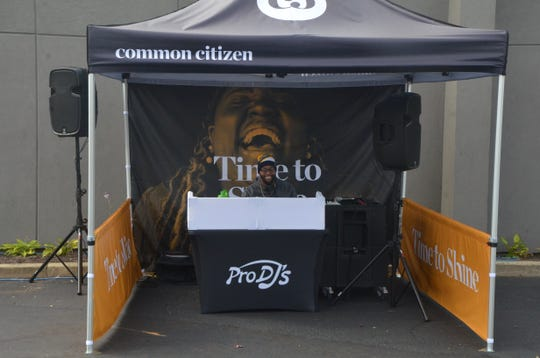 "A DJ occupied the ""time to shine"" tent to symbolize the meaning behind that need state."
