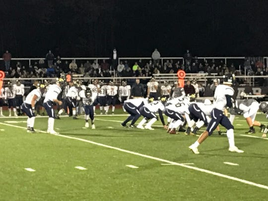 Susquehanna Valley prepares to run a play against host Sidney during Friday's Section 4 Football Conference game. The Sabers won, 53-8.