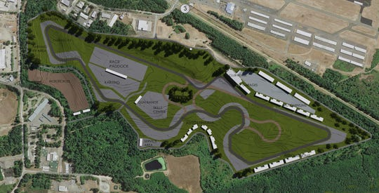 A rendering of Circuit of the Northwest's planned $33 million raceway project near the Port of Bremerton.