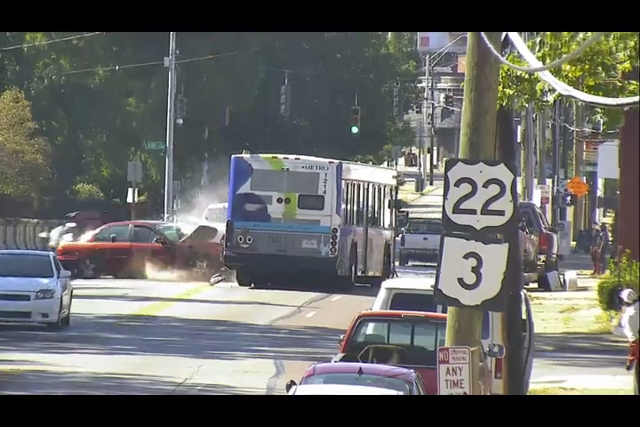 Cincinnati police release video of Metro bus crash from Oct. 5