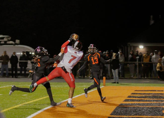 The Rahway and Somerville high school football teams met Friday night at Brooks Field.