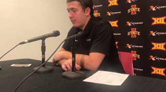 Iowa State's Charlie Kolar was fueled by a tough game against West Virginia.