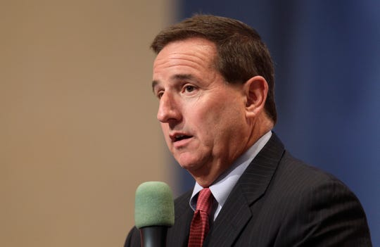 FILE - In this June 30, 2011 file photo, Oracle president Mark Hurd at an Oracle event in Redwood City, Calif.   Oracle as confirmed Hurd has died, Friday, Oct. 18, 2019. He was 62.