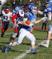 Ryan Scott of Horseheads carries the ball during a 35-28 win over Binghamton on Oct. 19, 2019 at Horseheads High School.