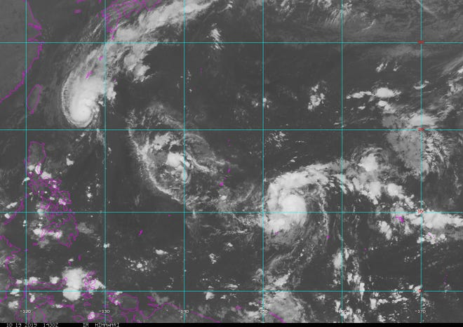 Atyphoon watchis in effect for Rota, Tinianand Saipan.