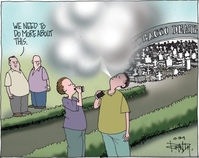 Sunday cartoon on vaping.