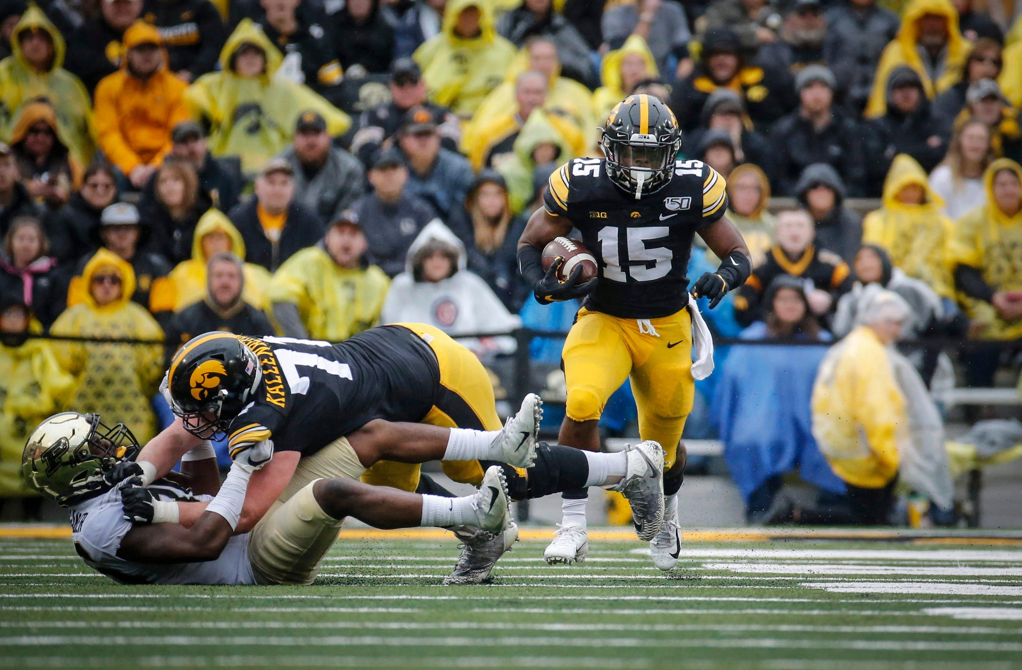 Photos: No. 22 Iowa defeats Purdue on homecoming at Kinnick Stadium
