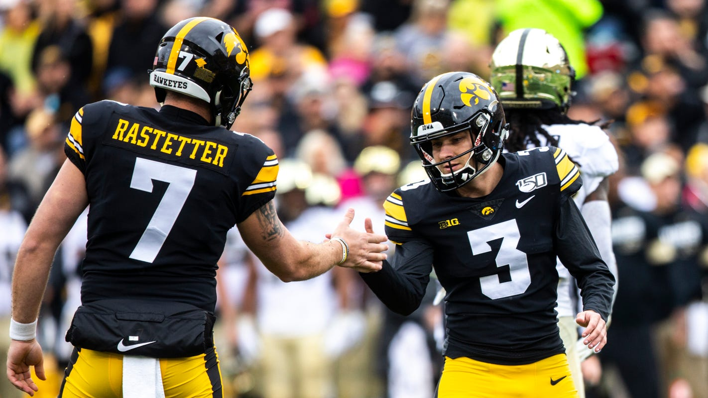 Iowa's Keith Duncan is perfect on six kicks to dump a Purdue team he wanted to play for