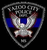 Yazoo City police emblem. Police investigate nightclub shooting