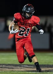 Pinckney's Cam Gaden caught a 53-yard touchdown pass in a 49-12 victory over Jackson.
