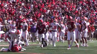 In Louisville's game against Clemson, Andrew Booth Jr. and Trenell Troutman get tangled up during a punt and Booth throws a punch. He'd be ejected from the game.