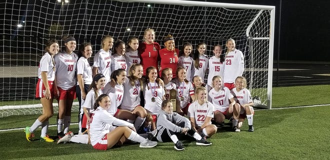 The Bullitt East Lady Chargers defeated the Mercy Jaguars to win their second Sixth Region girls soccer championship.