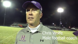 Male coach Chris Wolfe speaks after his team's hard-fought win over Fern Creek to capture the program's 900th win.